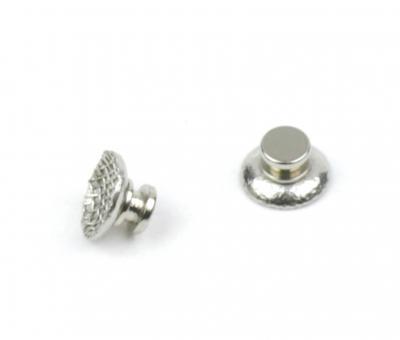 Metall Klebeknopf, runde Netz-Basis